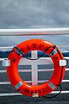 The life ring of Matanuska Ferry, Alaska Marine Highway System.