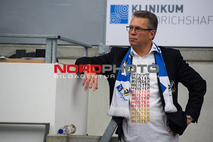03.05.2015, ZF Arena, Friedrichshafen<br /> Volleyball, Bundesliga Maenner, Play-offs Finale 5, VfB Friedrichshafen vs. Berlin Recycling Volleys<br /> <br /> JŸrgen / Juergen Hauke (Geschaeftsfuehrer Friedrichshafen)<br /> <br />   Foto &copy; nordphoto / Kurth