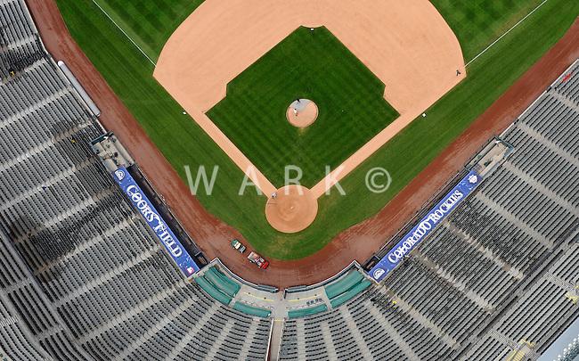 Aerial Denver, Colorado. Coors Field