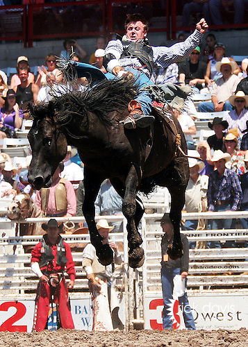 Bareback Bronc riding at Cheyenne Frontier Days Rodeo