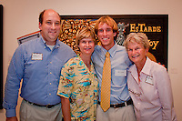 John Treanor (center) poses with his family from left; father, Gregory; mother, Elizabeth; and grandmother, Betsy; after winning a $5,000 scholarship to Ringling College of Art and Design in the 40th annual Jade N. Riedel Competition held by the Naples Art Association at The von Liebig Art Center, Naples, Florida, April 15, 2011. Photo by Debi Pittman Wilkey