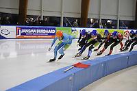 SCHAATSEN: LEEUWARDEN: 30-09-2015, Elfstedenhal, 1e competitiewedstrijd Mass Start, Arjan Stroetinga, ©foto Martin de Jong