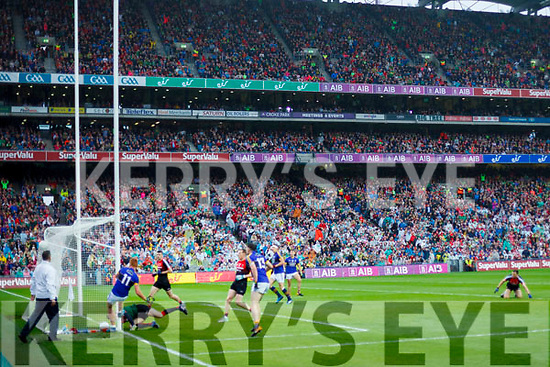 Johnny Buckley Kerry scores a goal against  Mayo in the All Ireland Semi Final in Croke Park on Sunday.