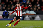 Oliver Norwood of Sheffield United shoots at goal during the Premier League match at Bramall Lane, Sheffield. Picture date: 5th December 2019. Picture credit should read: James Wilson/Sportimage
