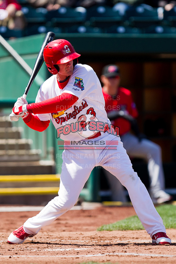 Ryan Jackson (23) of the Springfield Cardinals at bat during a game against the Frisco RoughRiders on April 16, 2011 at Hammons Field in Springfield, Missouri.  Photo By David Welker/Four Seam Images