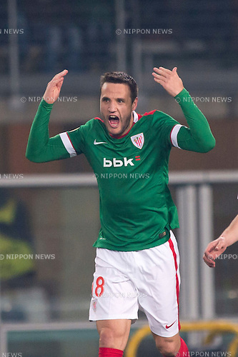 Carlos Gurpegui (Bilbao), FEBRUARY 19, 2015 - Football / Soccer : Carlos Gurpegui of Bilbao celebrates scoring their team second goal during the UEFA Europa League, round of 32 first leg match between Torino FC 2-2 Athletic Club Bilbao at Stadio Olimpico di Torino in Turin, Italy. (Photo by Maurizio Borsari/AFLO)