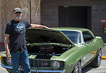 Tom Luitwiler stands in front of his 1969 Cammero during Hot August Nights Spring Fever in downtown Reno, Nevada on Friday, May 18, 2018.