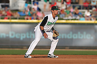Dayton Dragons Juan Perez #11 during a game against the Lake County Captains at Fifth Third Field on June 25, 2012 in Dayton, Ohio. Lake County defeated Dayton 8-3. (Brace Hemmelgarn/Four Seam Images)