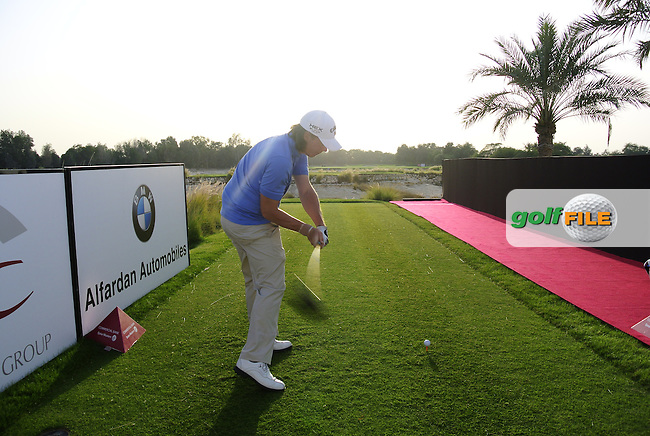 Kristoffer Broberg (SWE) tees off the 11th tee during Monday's Practice Day of the Commercial Bank Qatar Masters 2013 at Doha Golf Club, Doha, Qatar 21st January 2013 .Photo Eoin Clarke/www.golffile.ie