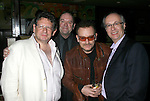WEST HOLLYWOOD, CA. - February 08: Lucian Grainge, Chairman/CEO Universal Music Group International, Paul McGuinness, Mgr. of U2, Musician Bono of U2 and Max Hole, UMGI Executive attend the Universal Music Group Chairman Doug Morris' Grammy Awards Viewing Dinner at The Palm on February 8, 2009 in West Hollywood, California.