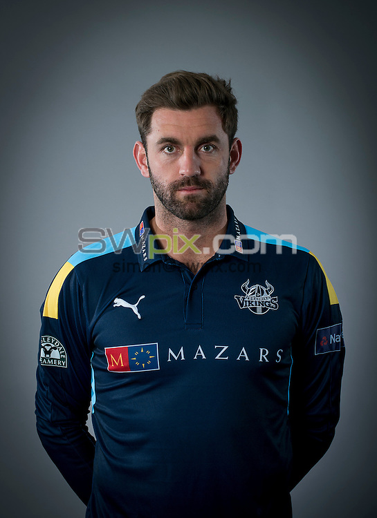 Picture By Allan McKenzie/SWpix.com - 15/04/16 - Cricket - Yorkshire CCC Media Day - Yorkshire County Cricket Club - Headingley, Leeds, England - Liam Plunkett.