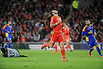 UEFA EURO 2016 Qualifier match between Wales and Andorra at Cardiff City Stadium in Cardiff : <br /> Gareth Bale of Wales looks to the heavens after missing a chance to score in the second half.