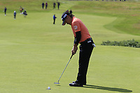 Yoshinori Fujimoto (JPN) putts on the 1st green during Thursday's Round 1 of the 148th Open Championship, Royal Portrush Golf Club, Portrush, County Antrim, Northern Ireland. 18/07/2019.<br /> Picture Eoin Clarke / Golffile.ie<br /> <br /> All photo usage must carry mandatory copyright credit (© Golffile | Eoin Clarke)