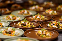 MELBOURNE, 30 June 2017 – A dish of Red Hill goats cheese, pickled mushrooms, pumpkin, freekeh & hazelnuts by Stuart Bell at a dinner celebrating Philippe Mouchel's 25 years in Australia with six chefs who worked with him in the past at Philippe Restaurant in Melbourne, Australia.