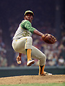 CIRCA 1971:  Vida Blue #35 of the Oakland A's, pitching during a game from his 1971 season with the Oakland A's.  Vida Blue played for 17 years with 3 different teams, was a 6-time All-Star and was the 1971 American League MVP.(Photo by: 1971  SportPics  )  Vida Blue