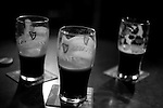 Pints on the table, in the Long Hall pub, Dublin, Christmas 2010