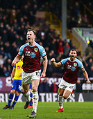 2nd February 2019, Turf Moor, Burnley, England; EPL Premier League football, Burnley versus Southampton; Ashley Barnes of Burnley celebrates after scores from the penalty spot in the 94th minute to make it 1-1 with Philip Bardsley of Burnley close by