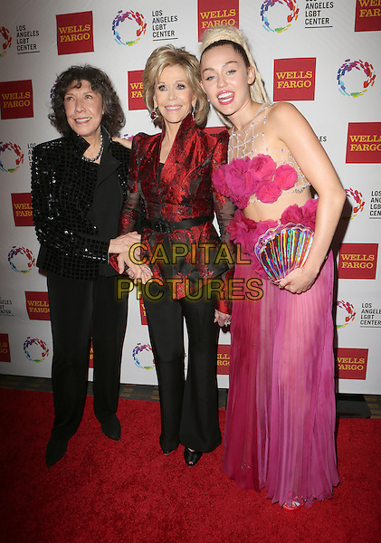 Century City, CA - November 07  Lily Tomlin, Jane Fonda, Miley Cyrus Attending 46th Anniversary Gala Vanguard Awards - Arrivals At the Hyatt Regency Century Plaza On November 07, 2015. <br /> CAP/MPI/FS<br /> &copy;FS/MPI/Capital Pictures