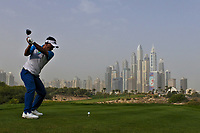 Thongchai Jaidee (THA) on the 8th tee during Round 1 of the Omega Dubai Desert Classic, Emirates Golf Club, Dubai,  United Arab Emirates. 24/01/2019<br /> Picture: Golffile | Thos Caffrey<br /> <br /> <br /> All photo usage must carry mandatory copyright credit (&copy; Golffile | Thos Caffrey)