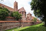 Malbork (województwo pomorskie) 13.07.2016. Gotycki, krzyżacki zamek w Malborku