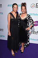 LONDON, UK. June 28, 2019: Hsieh Su-wei & Barbora Strycova arriving for the WTA Summer Party 2019 at the Jumeirah Carlton Tower Hotel, London.<br /> Picture: Steve Vas/Featureflash