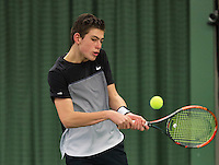 Rotterdam, The Netherlands, March 20, 2016,  TV Victoria, NOJK 14/18 years, Thijmen Loof (NED)<br /> Photo: Tennisimages/Henk Koster