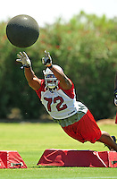 Jun 9, 2008; Tempe, AZ, USA; Arizona Cardinals tackle Brandon Keith during mini camp at the Cardinals practice facility. Mandatory Credit: Mark J. Rebilas-
