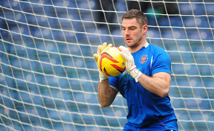 Blackpool's Matthew Gilks during the pre-match warm-up <br /> <br /> Photo by Chris Vaughan/CameraSport<br /> <br /> Football - The Football League Sky Bet Championship - Blackburn Rovers v Blackpool - Saturday 1st February 2014 - Ewood Park - Blackburn<br /> <br /> &copy; CameraSport - 43 Linden Ave. Countesthorpe. Leicester. England. LE8 5PG - Tel: +44 (0) 116 277 4147 - admin@camerasport.com - www.camerasport.com