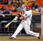 16 May 2007: Washington Nationals outfielder Ryan Church in action against the Atlanta Braves at RFK Stadium in Washington, DC. The Nationals rallied to defeat the Braves 6-4 to take a 2-1 lead in their four-game series...Mandatory Photo Credit: Ed Wolfstein Photo