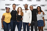 Eboni Flowers, Brandon Gill, Margot Bordelon, Jiref Breon Holder, Hampton Fluker and Nneka Okafor attend the press photo call for the Roundabout Theatre Company's production of  'Too Heavy For Your Pocket' at The Roundabout Theatre Studios on August 24, 2017 in New York City.