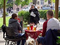 Caffe 2002 am Nam. SNP 463/3, Bratislava, Bratislavsky kraj, Slowakei, Europa<br /> Caffee 2001 at Nam.SNP 463/3, Bratislava, Bratislavsky kraj, Slovakia, Europe