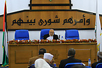 Deputy of the Legislative Council, Ahmed Bahar speaks during a meeting at the legislative council, in Gaza city on January 23, 2019. Photo by Mahmoud Ajjour
