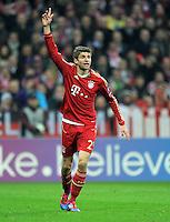 FUSSBALL   CHAMPIONS LEAGUE   SAISON 2011/2012   ACHTELFINALE RUECKSPIEL     13.03.2012 FC Bayern Muenchen - FC Basel        Thomas Mueller (FC Bayern Muenchen)
