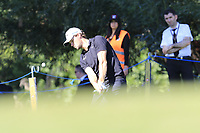 Thomas Pieters (BEL) chips onto the 18th green during Friday's Round 2 of the 2018 Turkish Airlines Open hosted by Regnum Carya Golf &amp; Spa Resort, Antalya, Turkey. 2nd November 2018.<br /> Picture: Eoin Clarke | Golffile<br /> <br /> <br /> All photos usage must carry mandatory copyright credit (&copy; Golffile | Eoin Clarke)