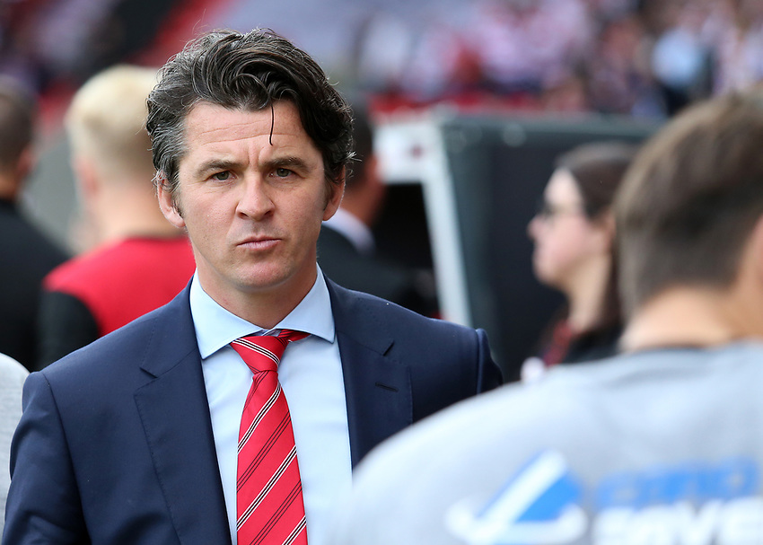 Fleetwood Town manager Joey Barton  looks on before kick off<br /> <br /> Photographer David Shipman/CameraSport<br /> <br /> The EFL Sky Bet League One - Doncaster Rovers v Fleetwood Town - Saturday 17th August 2019  - Keepmoat Stadium - Doncaster<br /> <br /> World Copyright © 2019 CameraSport. All rights reserved. 43 Linden Ave. Countesthorpe. Leicester. England. LE8 5PG - Tel: +44 (0) 116 277 4147 - admin@camerasport.com - www.camerasport.com
