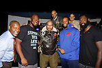 NFL's Buffalo Bills pose with Black Angels' Over Tuskegee cast - Melvin Huffnagle (middle back - home town is Buffalo) and Craig Colasanti, Thaddeus Daniels (L), Layon Gray - cast which performed a private performance for Buffalo Bills' head coach Rex Ryan and the team players on September 8, 2015 at Shea Performing Arts Center, Buffalo, New York. (Photo by Sue Coflin/Max Photos)