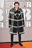 Brooklyn Beckham<br /> The Brit Awards at the o2 Arena, Greenwich, London, England on February 22, 2017.<br /> CAP/PL<br /> &copy;Phil Loftus/Capital Pictures /MediaPunch ***NORTH AND SOUTH AMERICAS ONLY***