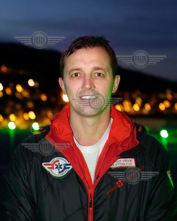 Doctor Steinar Einvik, Norwegian Air Ambulance<br /> <br /> photo: Fredrik Naumann/Felix Features