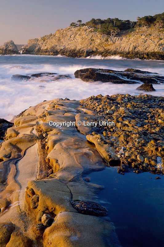 Headland Cove and South Point<br />   from Punta de los Lobos Marinos, (Sea Lion Point)<br /> Point Lobos State Reserve<br /> Monterey County,  California