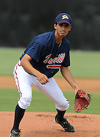 July 15, 2009: RHP Julio Surinach (8) of the Danville Braves, rookie Appalachian League affiliate of the Atlanta Braves, before a game at Dan Daniel Memorial Park in Danville, Va. Photo by:  Tom Priddy/Four Seam Images