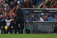 21.12.2012 SPAIN -  La Liga 12/13 Matchday 17th  match played between Atletico de Madrid vs Celta de Vigo (1-0) at Vicente Calderon stadium. The picture show  Diego Pablo Simeone coach of Atletico de Madrid