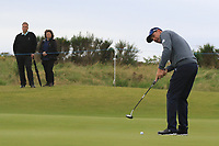 Padraig Harrington (IRL) on the 4th green during Round 2 of the Alfred Dunhill Links Championship 2019 at Kingbarns Golf CLub, Fife, Scotland. 27/09/2019.<br /> Picture Thos Caffrey / Golffile.ie<br /> <br /> All photo usage must carry mandatory copyright credit (© Golffile | Thos Caffrey)