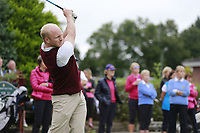 Johnny Watt (Malone) during the final  of the Ulster Mixed Foursomes at Killymoon Golf Club, Belfast, Northern Ireland. 26/08/2017<br /> Picture: Fran Caffrey / Golffile<br /> <br /> All photo usage must carry mandatory copyright credit (&copy; Golffile   Fran Caffrey)