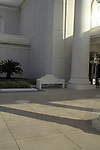 Bench on the grounds at the Orlando LDS Temple.