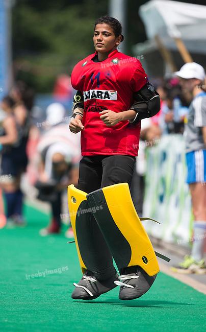 03/07/2015<br /> HWL Semi Final Antwerp Belgium 2015<br /> Japan v India Women<br /> Rajani  Etimarpu<br /> Photo: Grant Treeby