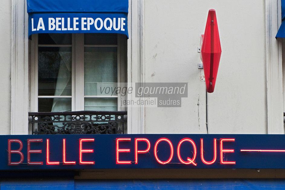 Europe/France/Ile de France/75012/Paris: Détail façade bar tabac: La Belle Epoque