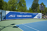 The Wake Forest Demon Deacons faced off against the North Carolina Tar Heels at the 2018 ACC Men's Tennis Championship at the Cary Tennis Center on April 29, 2018 in Cary, North Carolina.  The Demon Deacons defeated the Tar Heels 4-0.  (Brian Westerholt/Sports On Film)