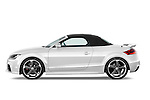 Driver side profile view of a 2010 - 2014 Audi TT RS Convertible.