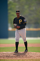 Pittsburgh Pirates Jose Regalado (73) during a minor league Spring Training game against the New York Yankees on April 1, 2016 at Pirate City in Bradenton, Florida.  (Mike Janes/Four Seam Images)