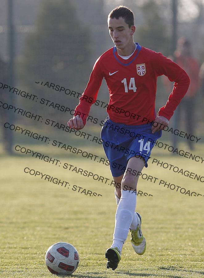 Fudbal  Reprezentacija Srbije<br /> Prijateljski mec Friendly match<br /> Srbija U17 v Croatia U17 <br /> Nikola Jovanovic<br /> Beograd, 11.12.2013.<br /> foto: Srdjan Stevanovic/Starsportphoto &copy;